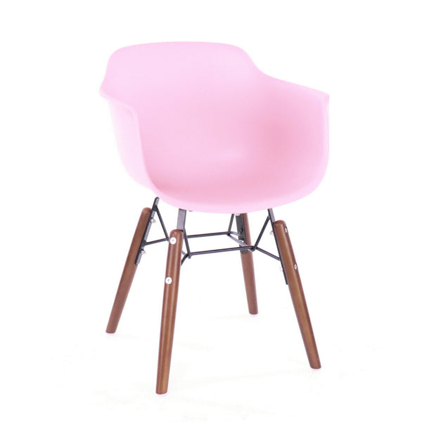 Design Lab MN LS-9607-PNKWAL Grazia Baby Pink Walnut Kids Chair Set of 4