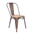 Design Lab MN LS-9000-RMTLW Dreux Rustic/Light Wood Dining Chair Set of 4