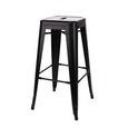 Design Lab MN LS-9100-MTBLK Dreux Matte Black Barstool Set of 4