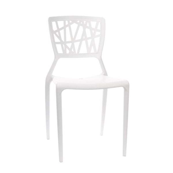 Design Lab MN LS-9601-WHT Vocci White Outdoor Dining Chair Set of 4