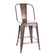 Design Lab MN LS-9111-RMT Dreux Rustic High Back Counter Chair Set of 4