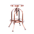 Design Lab MN LS-9200-COP Toledo Vintage Copper Adjustable Barstool