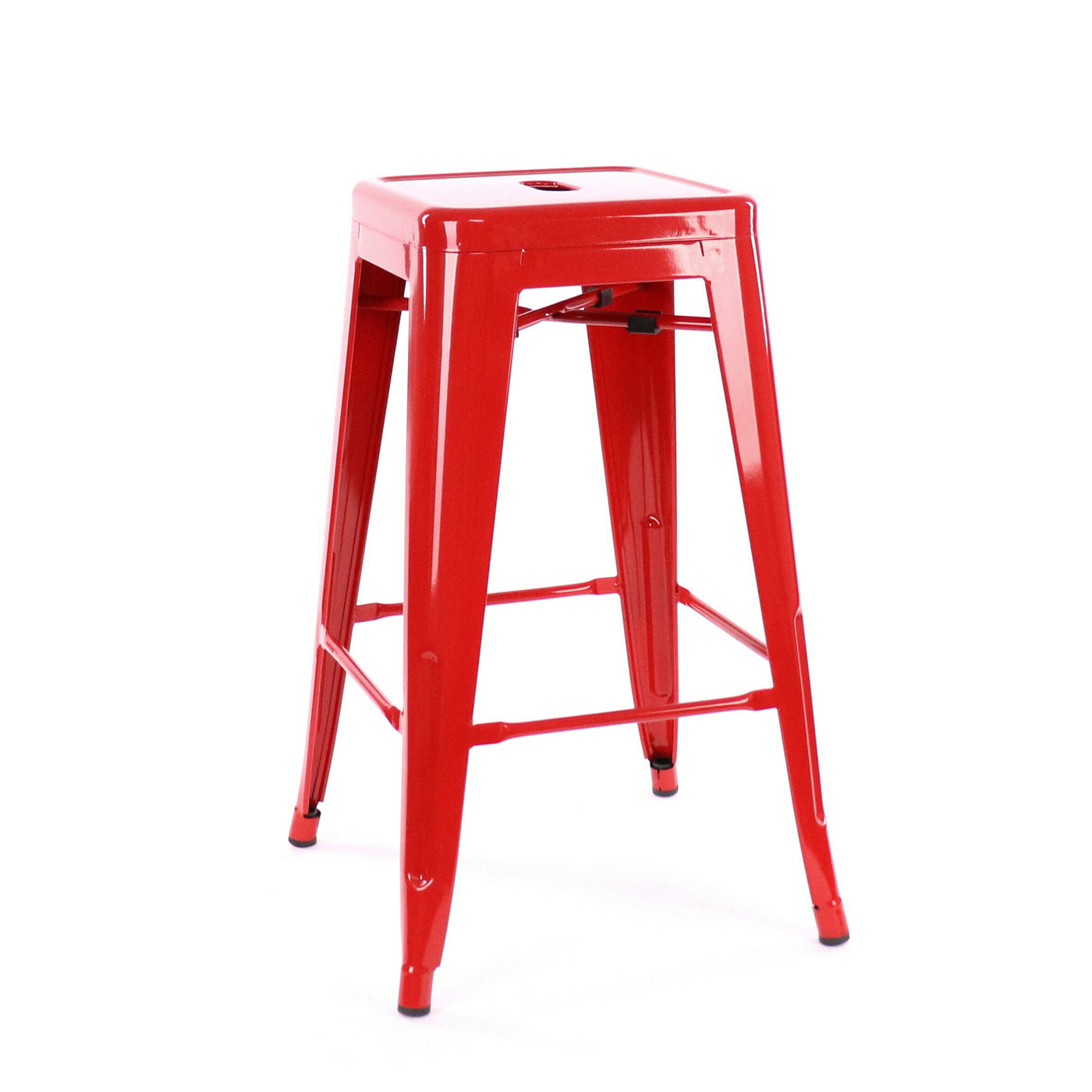Design Lab MN LS-9102-RED Dreux Red Counter Stool Set of 4