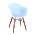 Design Lab MN LS-9607-LBLUWAL Grazia Baby Blue Walnut Kids Chair Set of 4