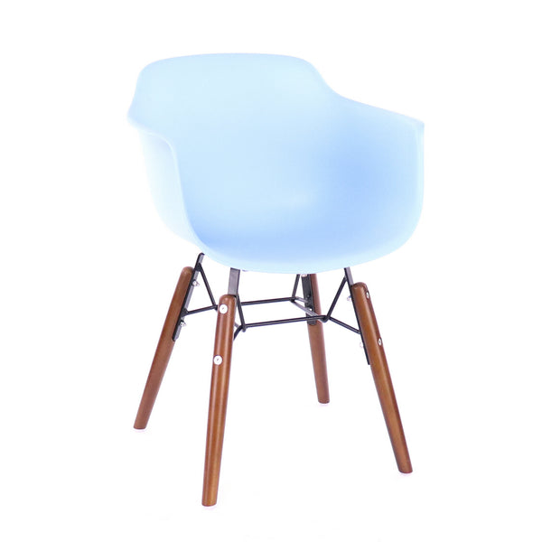 Design Lab MN LS-9607-LBLUWAL Grazia Baby Blue/Walnut Kids Chair Set of 4