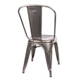 Design Lab MN LS-9000-GUN Dreux Gunmetal Dining Chair Set of 4