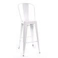 Design Lab MN LS-9100-WHTHB Dreux White High Back Barstool Set of 4