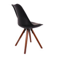 Design Lab MN LS-1000-BLKWAL Viborg Black/Walnut Dining Chair Set of 2