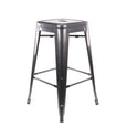 Design Lab MN LS-9102-DGUN Dreux Dark Gunmetal Counter Stool Set of 4
