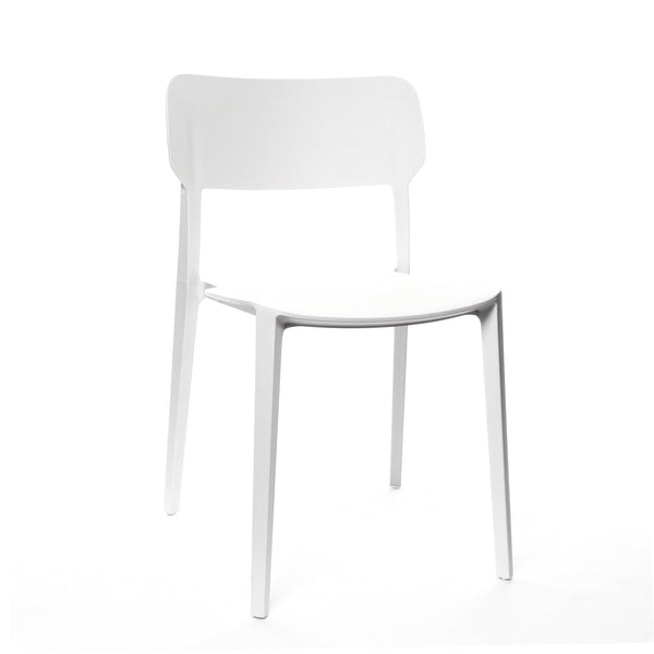 Design Lab MN LS-9605-WHT Viro White Outdoor Dining Chair Set of 4