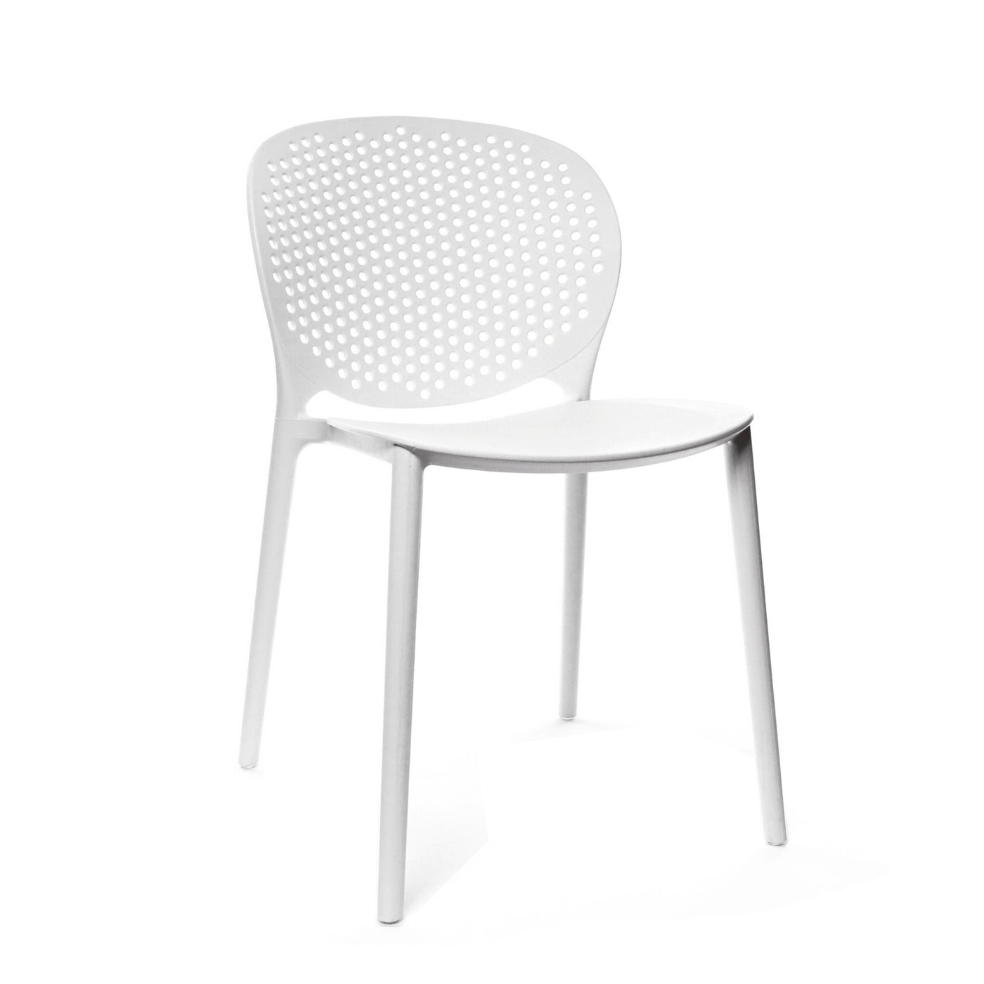 Design Lab MN LS-9603-WHT Muut White Outdoor Dining Chair Set of 4