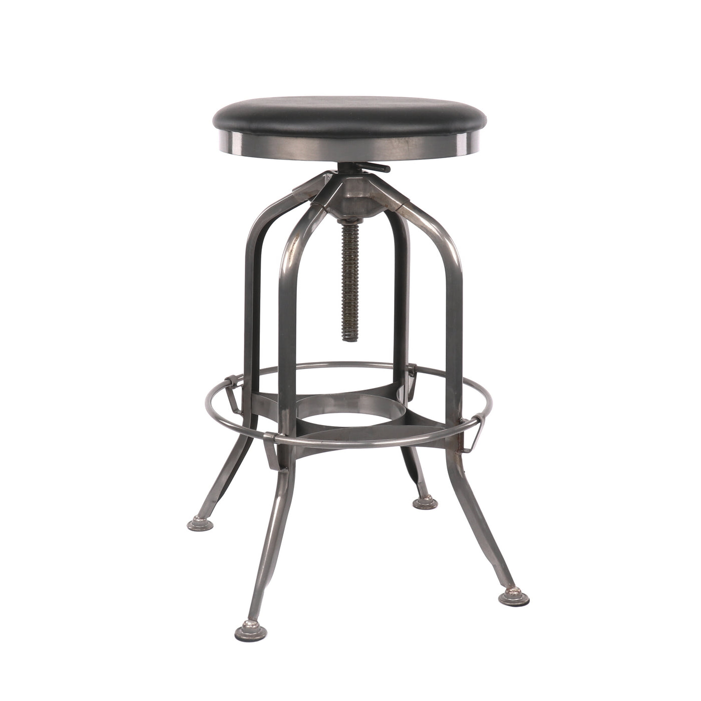Design Lab MN LS-9200-GUNBLK Toledo Black Gunmetal Adjustable Barstool