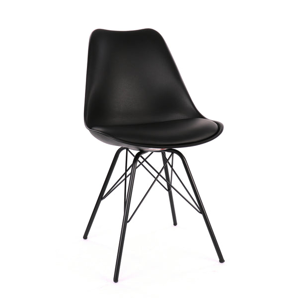 Design Lab MN LS-0001-BLKBLK Viborg Black Dining Chair Set of 2