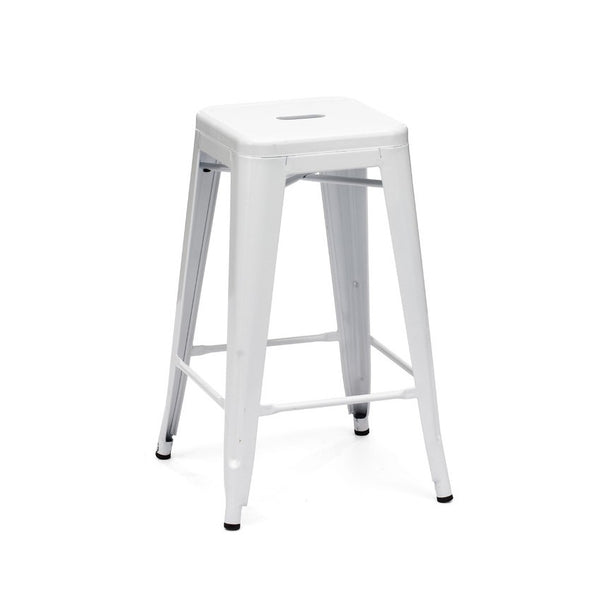 Design Lab MN LS-9102-WHT Dreux White Counter Stool Set of 4