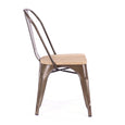 Design Lab MN LS-9000-RMTLW Dreux Rustic Light Wood Dining Chair Set of 4