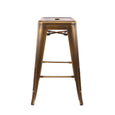 Design Lab MN LS-9102-VBRA Dreux Vintage Brass Counter Stool Set of 4