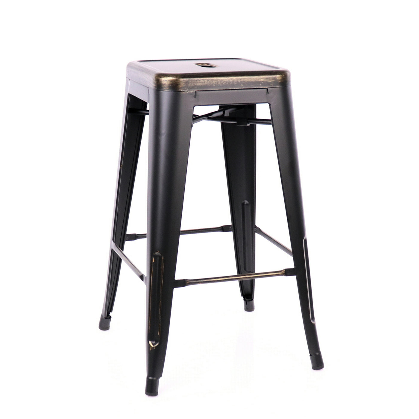 Design Lab MN LS-9102-BLKGLD Dreux Black Gold Counter Stool Set of 4