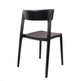 Design Lab MN LS-9604-BLK Rho Black Outdoor Dining Chair Set of 4