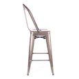 Design Lab MN LS-9102-GUNHB Dreux Gunmetal High Back Counter Stool Set of 4