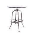Design Lab MN LS-9212-GUN Toledo Gunmetal Adjustable Bar Table