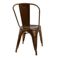 Design Lab MN LS-9000-VBRA Dreux Vintage Brass Dining Chair Set of 4