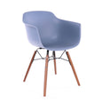 Design Lab MN LS-9341-SLAWAL Grazia Blue Walnut Dining Arm Chair Set of 4