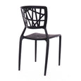 Design Lab MN LS-9601-BLK Vocci Black Outdoor Dining Chair Set of 4