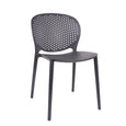 Design Lab MN LS-9603-BLK Muut Black Grey Outdoor Dining Chair Set of 4