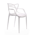 Design Lab MN LS-9600-WHT Masters White Outdoor Dining Chair Set of 4