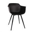 Design Lab MN LS-9343-BLKBLK Grazia Black Dining Arm Chair Set of 4