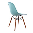 Design Lab MN LS-9441-SRFWAL Grazia Surfin Walnut Dining Chair Set of 4