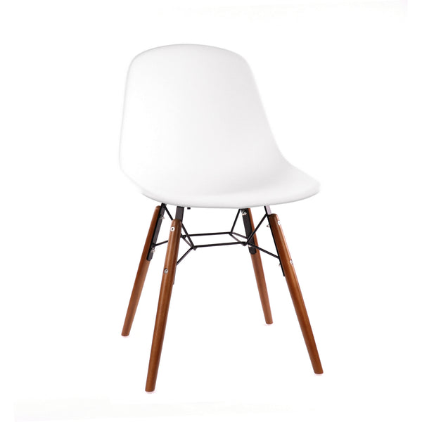 Design Lab MN LS-9441-WHTWAL Grazia White Walnut Dining Chair Set of 4