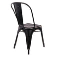 Design Lab MN LS-9000-BLKGLD Dreux Black Gold Dining Chair Set of 4