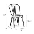 Design Lab MN LS-9000-MTBLK Dreux Matte Black Dining Chair Set of 4