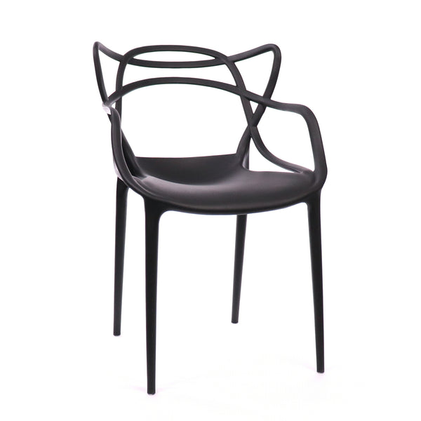 Design Lab MN LS-9600-BLK Masters Black Outdoor Dining Chair Set of 4