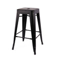 Design Lab MN LS-9102-MTBLK Dreux Matte Black Counter Stool Set of 4