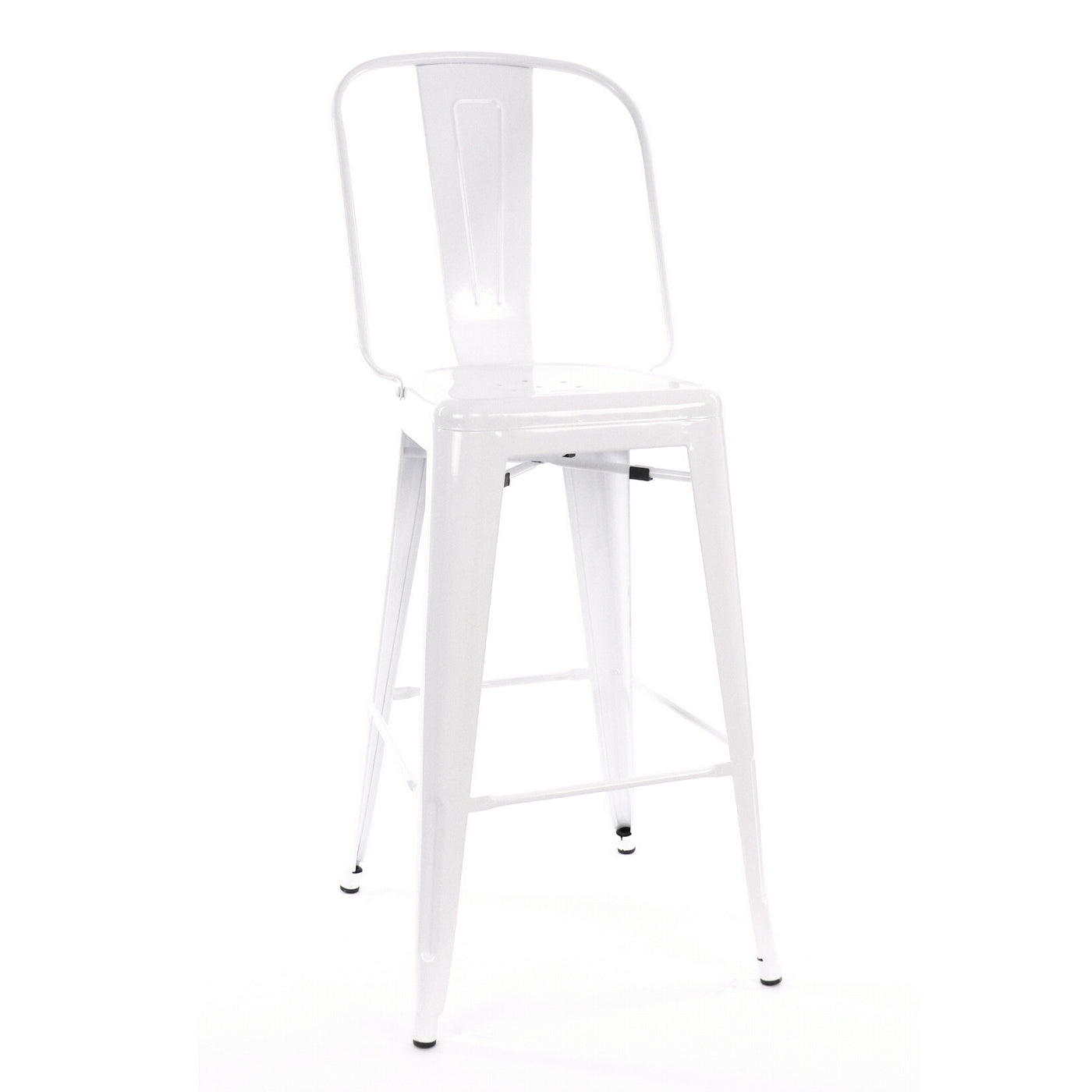 Design Lab MN LS-9101-WHT Dreux White High Back Bar Chair Set of 4