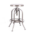 Design Lab MN LS-9200-GUN Toledo Gunmetal Adjustable Barstool