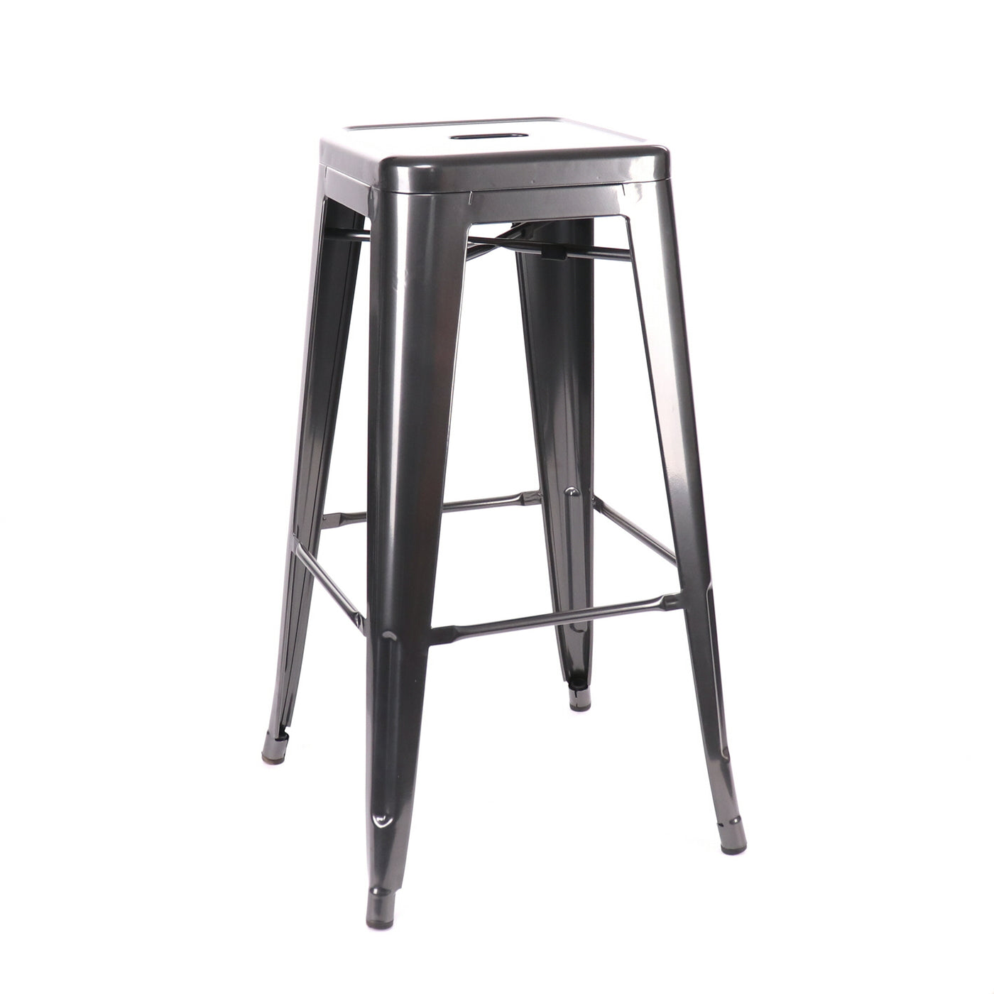 Design Lab MN LS-9100-DGUN Dreux Dark Gunmetal Barstool Set of 4