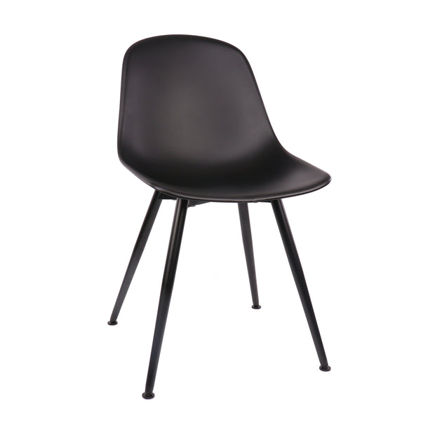 Design Lab MN LS-9443-BLKBLK Grazia Black Dining Chair Set of 4