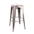 Design Lab MN LS-9100-GUN Dreux Gunmetal Barstool Set of 4