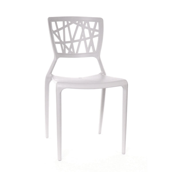 Design Lab MN LS-9601-PLT Vocci Platinum Outdoor Dining Chair Set of 4