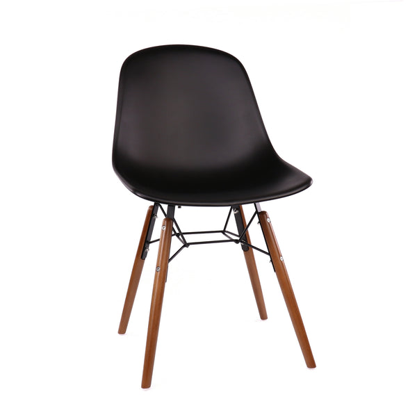 Design Lab MN LS-9441-BLKWAL Grazia Black Walnut Dining Chair Set of 4