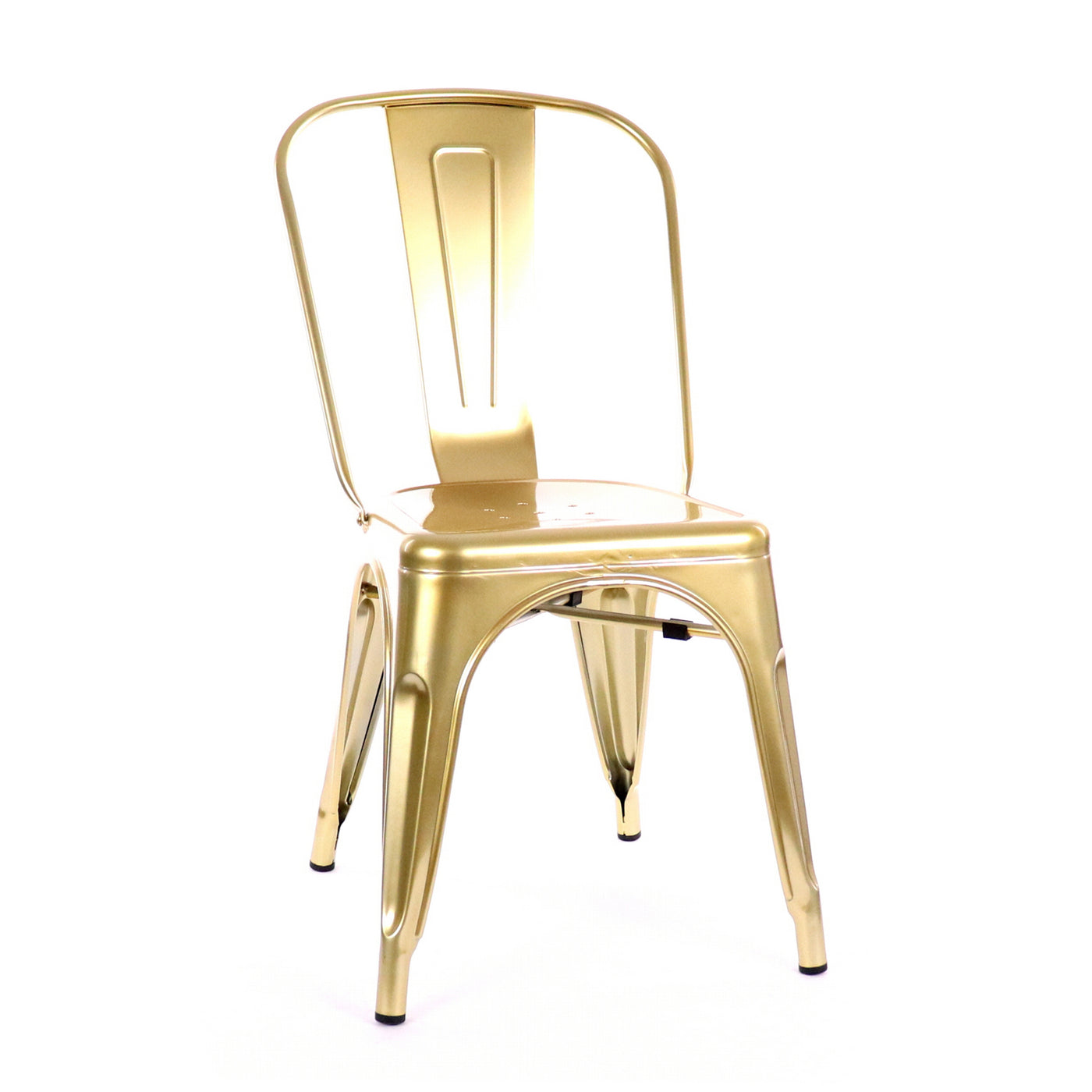 Design Lab MN LS-9000-CGLD Dreux Metallic Gold Dining Chair Set of 4