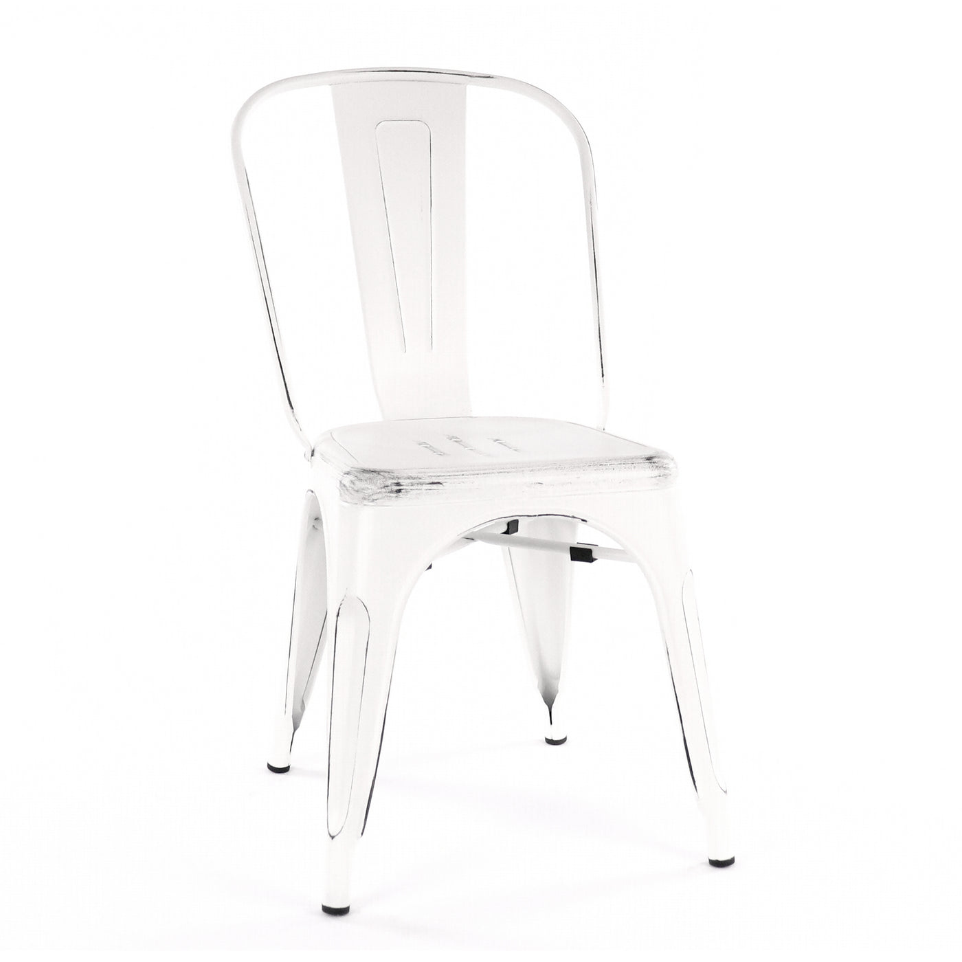 Design Lab MN LS-9000-WHTBLK Dreux White/Black Dining Chair Set of 4
