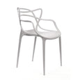 Design Lab MN LS-9600-PLT Masters Platinum Outdoor Dining Chair Set of 4