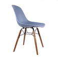 Design Lab MN LS-9441-SLAWAL Grazia Blue Walnut Dining Chair Set of 4