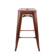 Design Lab MN LS-9102-COP Dreux Vintage Copper Counter Stool Set of 4