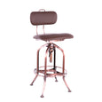Design Lab MN LS-9199-COPBRN Toledo Brown Vinyl Vintage Copper Adjustable Bar Chair