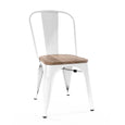 Design Lab MN LS-9000-WHTLW Dreux White Light Wood Dining Chair Set of 4